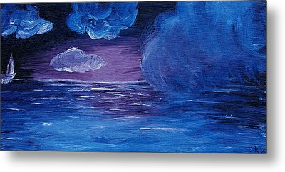 Sea Storm Metal Print by Jera Sky