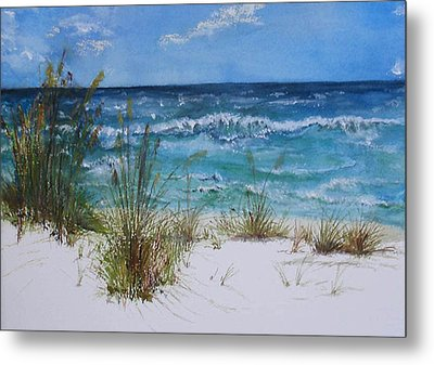 Metal Print featuring the painting Sea Study 08 by Sibby S