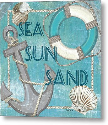 Sea Sun Sand Metal Print by Debbie DeWitt