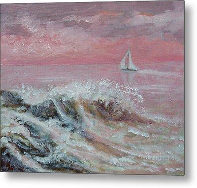 Sea Sunrise Metal Print