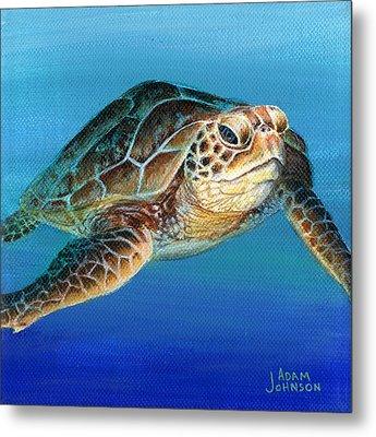 Sea Turtle 1 Of 3 Metal Print