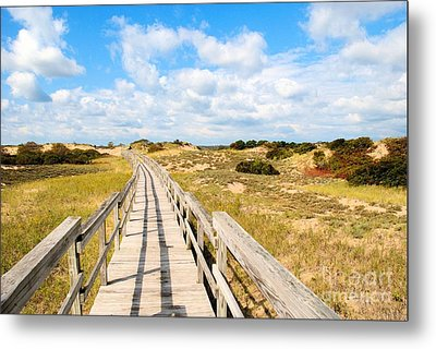 Metal Print featuring the photograph Seabound Boardwalk by Debbie Stahre