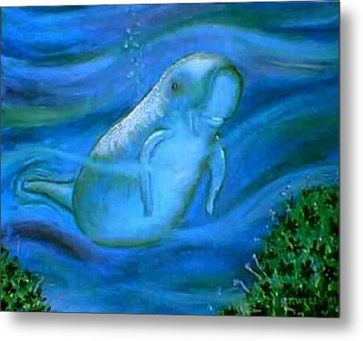 Seacow Named Smiley Metal Print by Tanna Lee M Wells
