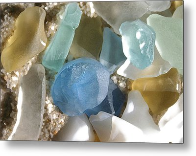 Seaglass Metal Print by Mary Haber