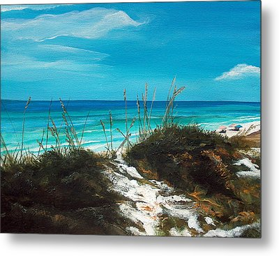 Seagrove Beach Florida Metal Print by Racquel Morgan