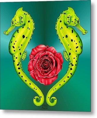 Seahorse Metal Print by Sheryl Unwin