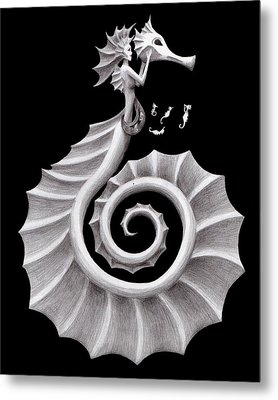 Seahorse Siren Metal Print by Sarah Krafft