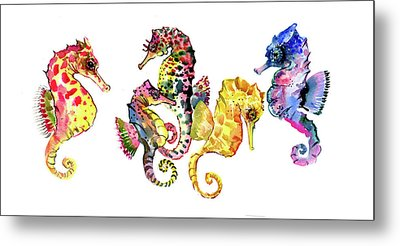 Seahorses Metal Print by Suren Nersisyan