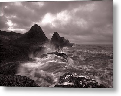 Seal Rock Thunder Metal Print