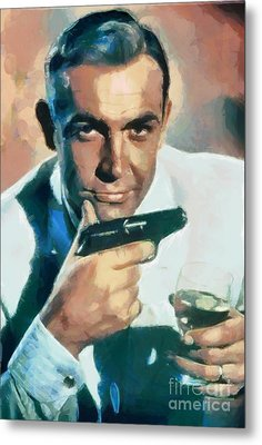 Sean Connery Metal Print