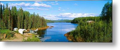 Seaplane On Talkeetna Lake, Alaska Metal Print by Panoramic Images
