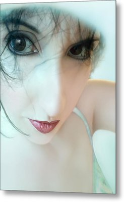Searching For Innocence Lost - Self Portrait Metal Print by Jaeda DeWalt