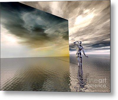 Searching Metal Print by Sandra Bauser Digital Art