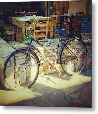 Sears Bicycle. Old School Way To Get Metal Print