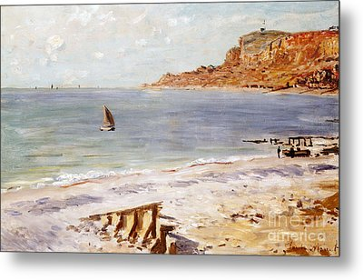 Seascape At Sainte Adresse  Metal Print by Claude Monet