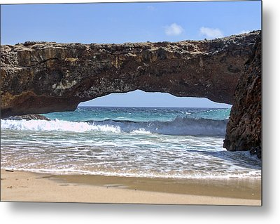 Seascape Land Bridge Metal Print