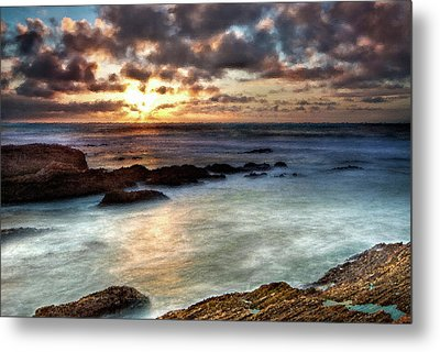 Seascape Paintings For Sale - Ocean Breath Metal Print by Frances Leigh
