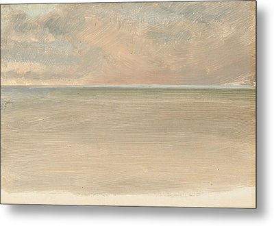 Seascape With Icecap In The Distance Metal Print by Frederic Edwin Church