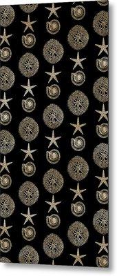 Seashell Pattern Metal Print
