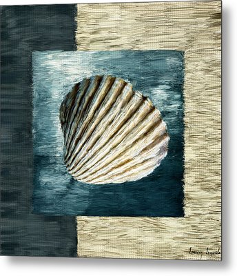 Seashell Souvenir Metal Print by Lourry Legarde