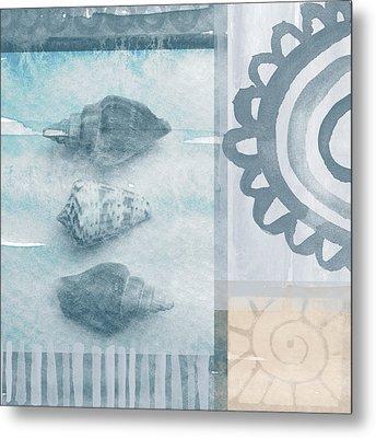 Seashells 2 Metal Print by Linda Woods