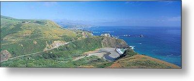 Seashore Along Highway 1, Mendocino Metal Print by Panoramic Images