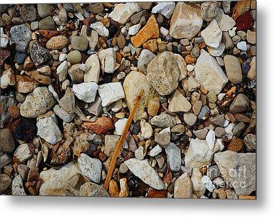 Seashore Pebbles  Metal Print by Celestial Images