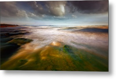 Seaside Abstraction Metal Print