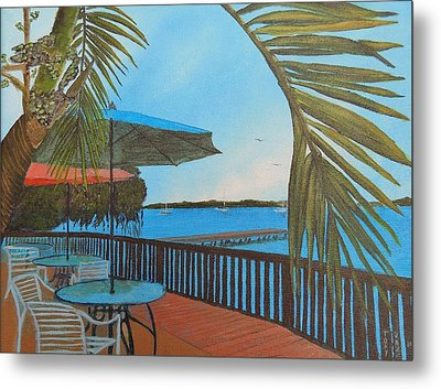 Seaside Balcony Metal Print by Tony Rodriguez
