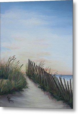Seaside Sunrise Metal Print by Mary Rogers