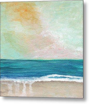 Seaside Sunset- Expressionist Landscape Metal Print by Linda Woods