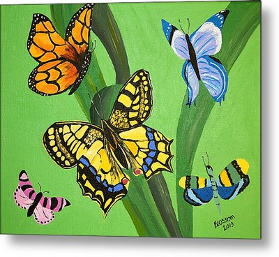 Season Of Butterflies Metal Print