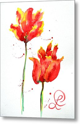 Season's First Tulips Metal Print