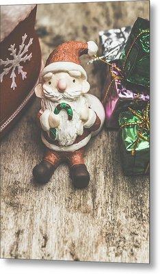 Seasons Greeting Santa Metal Print by Jorgo Photography - Wall Art Gallery