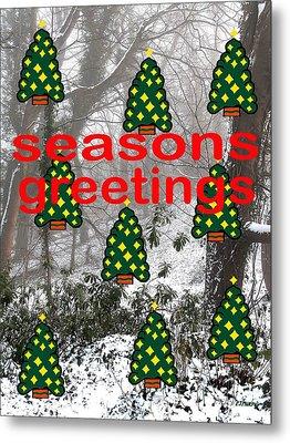 Seasons Greetings 8 Metal Print by Patrick J Murphy