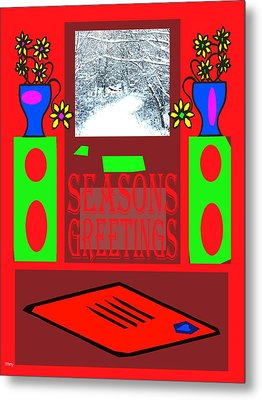 Seasons Greetings 97 Metal Print by Patrick J Murphy