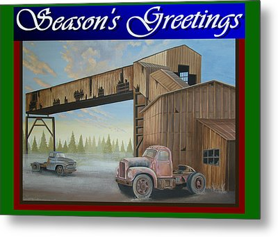 Season's Greetings Old Mine Metal Print by Stuart Swartz