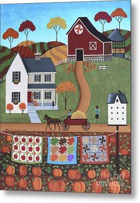 Seasons Of Rural Life - Fall Metal Print by Mary Charles