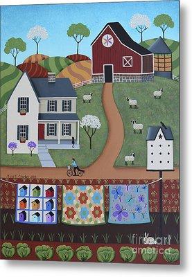 Seasons Of Rural Life - Spring Metal Print by Mary Charles