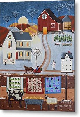 Seasons Of Rural Life - Winter Metal Print by Mary Charles