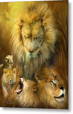 Seasons Of The Lion Metal Print by Carol Cavalaris