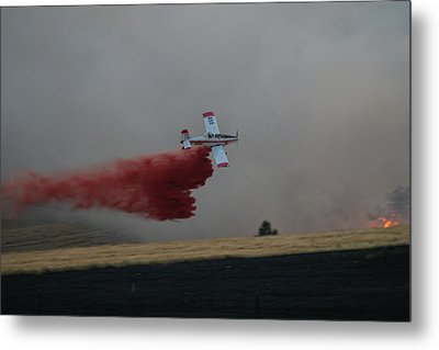 Seat Drops On Indian Canyon Fire Metal Print by Bill Gabbert