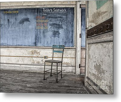 Seat Work Metal Print by Terry Rowe