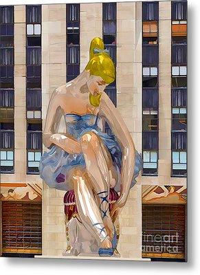 Seated Ballerina At Rockefeller Center 3 Metal Print by Lanjee Chee