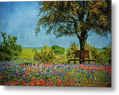 Metal Print featuring the photograph Seating For Two by Ken Smith