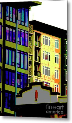 Metal Print featuring the photograph Seattle Architecture by Yulia Kazansky