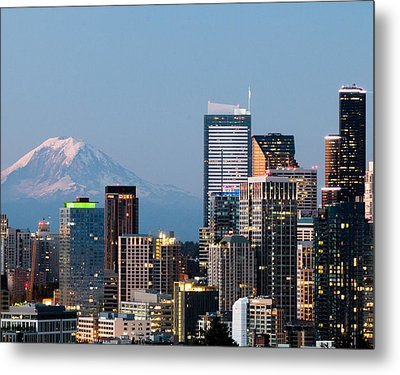 Seattle At First Light II Metal Print by E Faithe Lester
