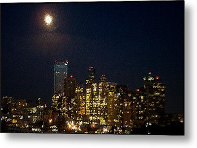 Seattle At Night Metal Print by James Johnstone