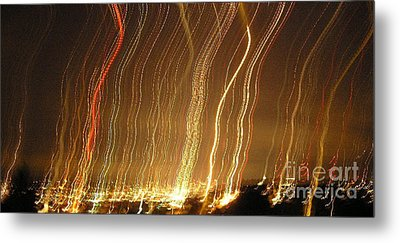 Seattle Burning At Night Metal Print by Silvie Kendall