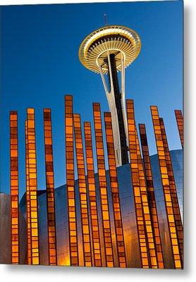 Seattle Center Twilight Metal Print